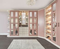 Our contemporary pink fitted wardrobe can be beautifully adapted to fit a number of room styles and sizes. Available in an array of colours and finishes. Pink Wardrobe, Wardrobe Room, Wardrobe With Mirror, Pink Closet, Closet Small, Mirrored Wardrobe, Bedroom Closet Design, Closet Designs, Bedroom Designs