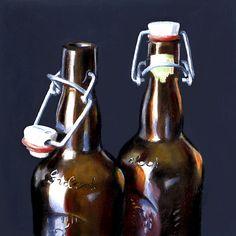 Brown Bottles II by Nance Danforth