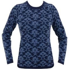 J.Lindeberg Womens Signe Intarsia Knit Navy/Purple - SS15