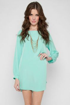 Shifted Dress in Mint $53 at www.tobi.com