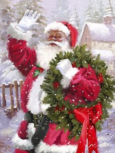 These high quality christmas paintings and christmas artwork are perfect for your home! Christmas Scenes, Christmas Love, Christmas Pictures, Christmas Snowman, All Things Christmas, Christmas Crafts, Christmas Decorations, Christmas Ornaments, Father Christmas