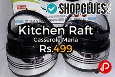 Shopclues #DealofTheDay is offering 72% off on Kitchen Raft Casserole Maria Just at Rs.499. Kitchenraft Diana Insulated Casseroles are designed to keep your food hot and fresh for long hours.  http://www.paisebachaoindia.com/kitchen-raft-casserole-maria-just-at-rs-499-shopclues/