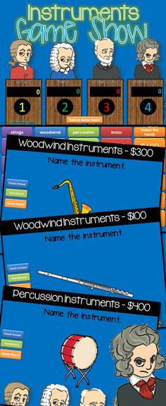 Musical Instruments Jeopardy style game show! Excellent practice for reviewing many types of instruments.$