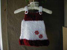 Baby Dress Baby Jumper Knit Dress Hand Knit Baby by bonitastewart