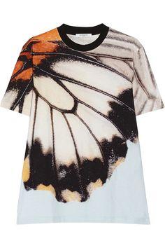 GIVENCHY T-shirt en jersey de coton à imprimé papillon