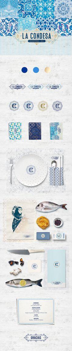 La Condesa Restaurant Branding by Plasma Nodo Hotel Branding, Branding Agency, Business Branding, Food Branding, Brand Identity Design, Graphic Design Branding, Corporate Design, Graph Design, Web Design