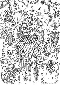 Check Out This Awesome FREE Coloring Page Winter Owl From Favoreads