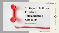 11 Steps to Build an Effective Telemarketing Campaign - SalesGarners Marketing Private Limited Marketing Automation, Customer Experience, Buisness, Growth Mindset, Business Tips, Campaign, Building, Blog, Thursday