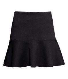 Flounce/flounced skirt: a skirt with a ruffle along its edge, usually all around the bottom.