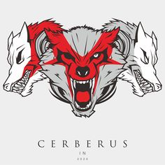 #Cerberus #illustration #vectorart