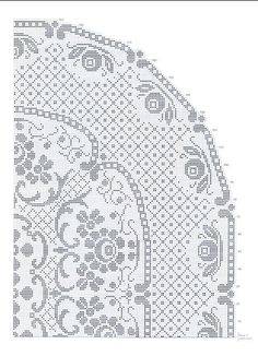 Szydełkomania: Obrus Crochet Tablecloth Pattern, Crochet Doilies, Crochet Lace, Crochet Chart, Love Crochet, Crochet Patterns, Crochet Needles, Thread Crochet, Fillet Crochet