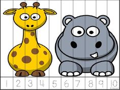 Jungle or wild animal theme pictures, a fun way to practice counting using puzzles! Available in color or blackline. Count by 1 to 10. Count odd numbers to 19. Count even numbers to 20. Count by 5 to 50. Count by10 to 100. Count by 25 to 250. Count by 50 to 500.
