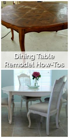 Dining Table Remodel on a Budget - Before & After
