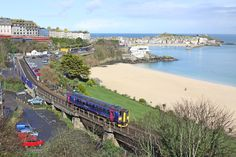 The park and ride branch line is always a popular choice and a great way to arrive in St Ives as the line hugs the coast