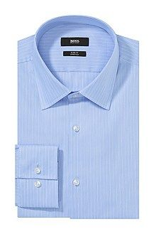 Slim-fit business shirt 'Jacob' with a Kent collar, Turquoise
