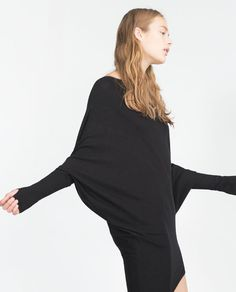 Image 3 of OVERSIZE ASYMMETRIC SWEATER from Zara