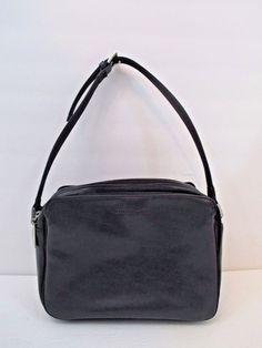 Liz Claiborne Black Faux Leather Shoulder Hobo Handbag Zip Closure Multi-Pockets #LizClaiborne #ShoulderBag