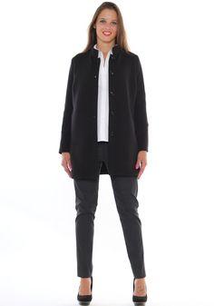 ... LuanaRomizi.com · Outfit da ufficio taglie morbide cappotto  neoprene 6184bb97b45