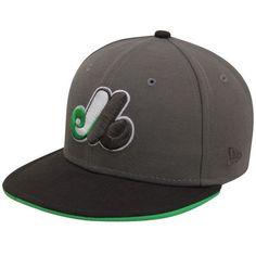 Men's Montreal Expos New Era Gray/Black Cooperstown 59FIFTY Fitted Hat