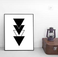 Triangle Print, Printable Art, Geometric Print, Instant Download, Wall Art, Digital Print, Minimal Design, Modern Print, Geometric Poster