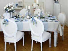 Wie decken Sie Ihre Festtafel zu Weihnachten? Unser Tipp: Winterliche Eleganz durch Tischdeko in blau-weiß. Dazu gibt es verführerische Rezepte für ei