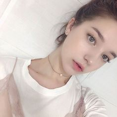 Her name is Angelina danilova, she is a Russian living in Korea at the moment :)