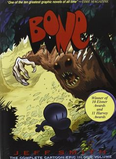 Bone: The Complete Cartoon Epic in One Volume by Jeff Smith,http://www.amazon.com/dp/188896314X/ref=cm_sw_r_pi_dp_ZIUxsb1QNPRTCNEN
