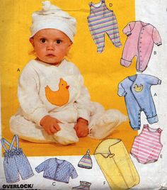 Vintage Baby Sewing Pattern /Mccall's 8042/ Baby Premmmie