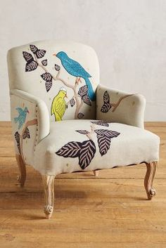 Such A Cute Idea Find An Old Chair And Reupholster It For T Feeding In The Bedroom E Best Chairs Pinterest Fabrics Bedrooms