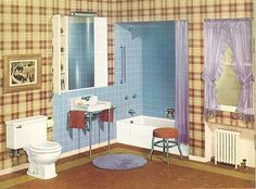 vintage crane bathroom | 24 pages of vintage bathroom design ideas from Crane - 1949 catalog ...