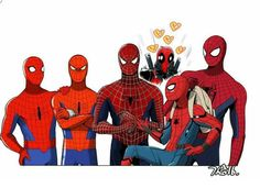 All the Spideys...wait...is that.....Deadpool get the hell outta here!