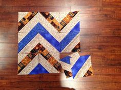 The Chevron Strip Tube Block is an eye-catching chevron quilt pattern that will look beautiful no matter what you make with it. You can make this quilt block with scraps you already have if you& feeling thrifty, or use jelly roll fabric. Chevron Baby Quilts, Chevron Quilt Pattern, Jelly Roll Quilt Patterns, Quilt Block Patterns, Pattern Blocks, Quilt Blocks, Bear Patterns, Quilting Tutorials, Quilting Projects