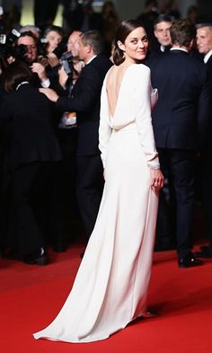 At The Immigrant premiere in a fabulous floor length Christian Dior gown, which featured a draped skirt and open back, duringCannes Film Festival in May, 2013.
