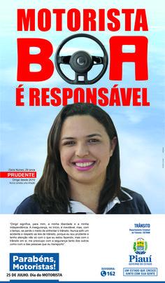 Anúncio II Para Jornal - Dia Do Motorista 2016 - Cliente Gov. Do Piauí