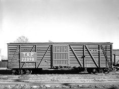 [Single Door Freight Car 22098, Texas & Pacific Railway Company]
