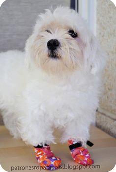 Patrones de ropa para perros: Patrón de botas para perro