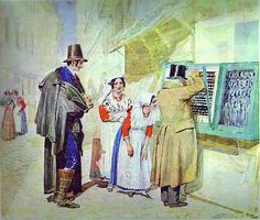 Ivanov, Alexander (1806-1858) - 1839 A Bridegroom Buying a Ring for His Fiancee (Russian Museum).