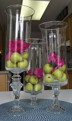 dollar store candleholders and vases