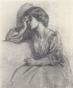 Mrs William Morris (1865-75) D G Rossetti ('Not tonight Gabriel, I have a headache')
