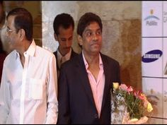 Johnny Lever at the launch of Dilip Kumar's Autobiography.