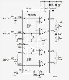 btl power amplifier circuit using ic tda7265 audio schematic rh pinterest com