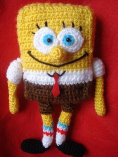 Amigurumi SpongeBob Squarepants by AllSoCute Amigurumis, via Flickr