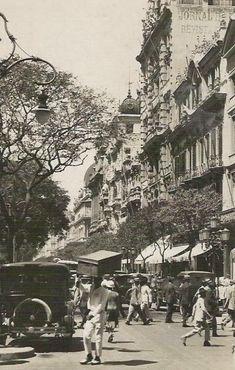 Avenida Rio Branco cerca de 1920. Rio de Janeiro. Vintage