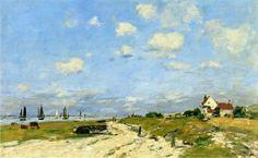 Eugène Boudin - Les dunes à Étaples (1890)