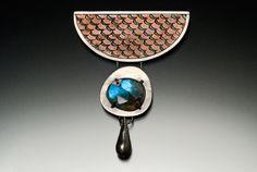 When I Was a Fish brooch, oxidized etched copper, sterling silver, labradorite, steel Labradorite, Turquoise Bracelet, Copper, Brooch, Fish, Steel, Sterling Silver, Bracelets, Jewelry