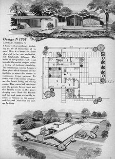 Home Planners Diseño N1708 por MidCentArc, a través de Flickr