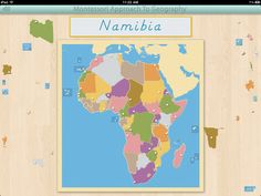 Learn to identify and locate the countries of Africa with this iPad app by Mobile Montessori