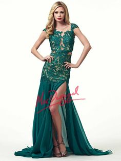 Lace Overlay Evening Gown   Mac Duggal 61041R