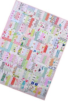 Red Pepper Quilts: A Baby Quilt - Not Quite Low Volume
