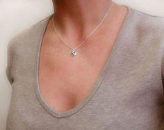 Tiny Sea Turtle necklace silver eco friendly sea turtle